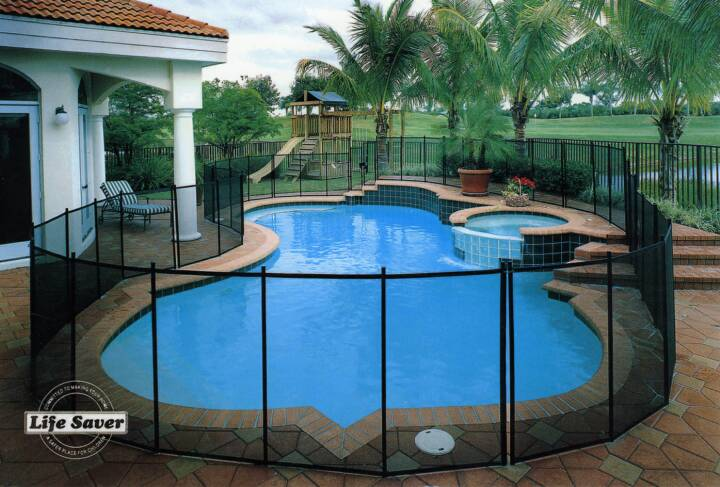 Pool fence removable mesh child safety fences by